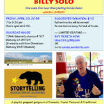 BILLY SOLO: One-man, One-hour Storytelling Soirée Salon with BILL ZARCHY