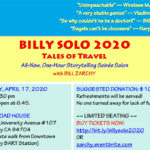 BILLY SOLO 2020 — Tickets On Sale Now