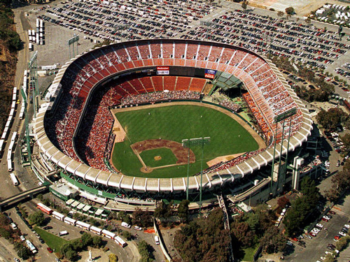 i was present at a world series game between the giants and the oakland a s then the earth shook